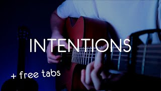 Justin Bieber - Intentions ft Quavo Acoustic Fingerstyle Cover Guitar Tutorial free tabs