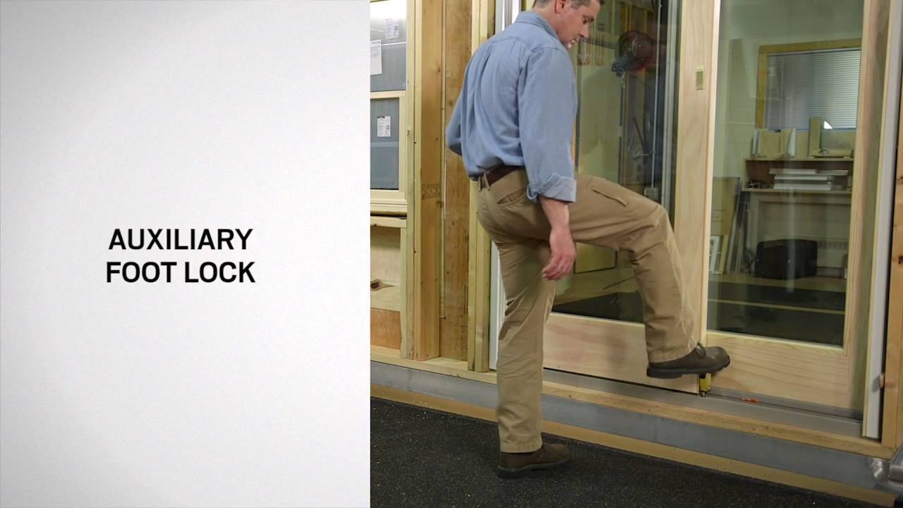 & Lock Options for Andersen Andersen® Frenchwood Gliding Doors - YouTube