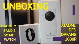 Xiaomi DF3 dafang 1080P camera +Xiaomi Mi Band 2 Smart Watch for Android iOS  l GearBest Unboxing