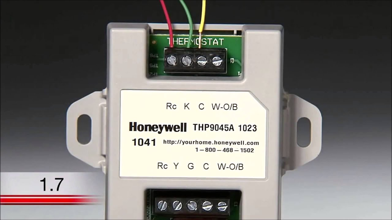 How To Install A Honeywell Th8320wf Thermostat Youtube