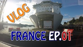 Caravanning in France 2017 EP.01 | Driving to Plymouth | Ferry Boarding