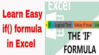 IF() Formula in Excel in Tamil | Excel formulas and Functions in Tamil IF formula Part 16
