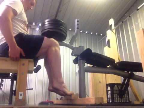 Seated Calf Raise Without Machine DIY calf raise - YouTu...