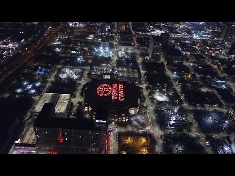 DRONE Video - Houston In Texas At Night !!!