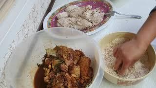 Marinate chicken done.Before fry the Chicken. Part 2