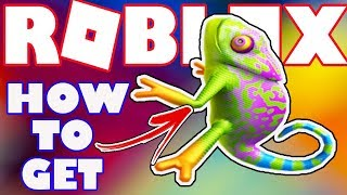 [BONUS ITEM] How To Get Lovely Chameleon Companion in Roblox - Catalog Item for Robux Card Purchase