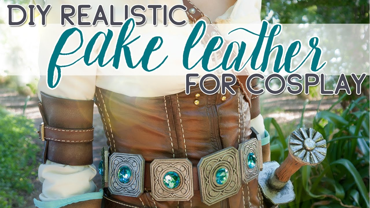 b8c942571d2f9d DIY: How to Create Realistic Fake Leather for Cosplay - YouTube