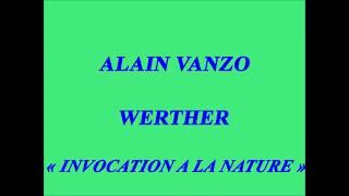 Alain Vanzo   Werther   Invocation à la nature   Polaris L 80 009