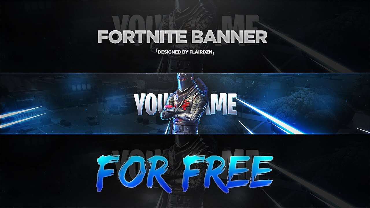 Fortnite Battle Royale Youtube Banner Template Free Youtube