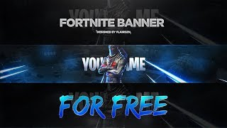 Fortnite: Battle Royale YouTube Banner Template *FREE*