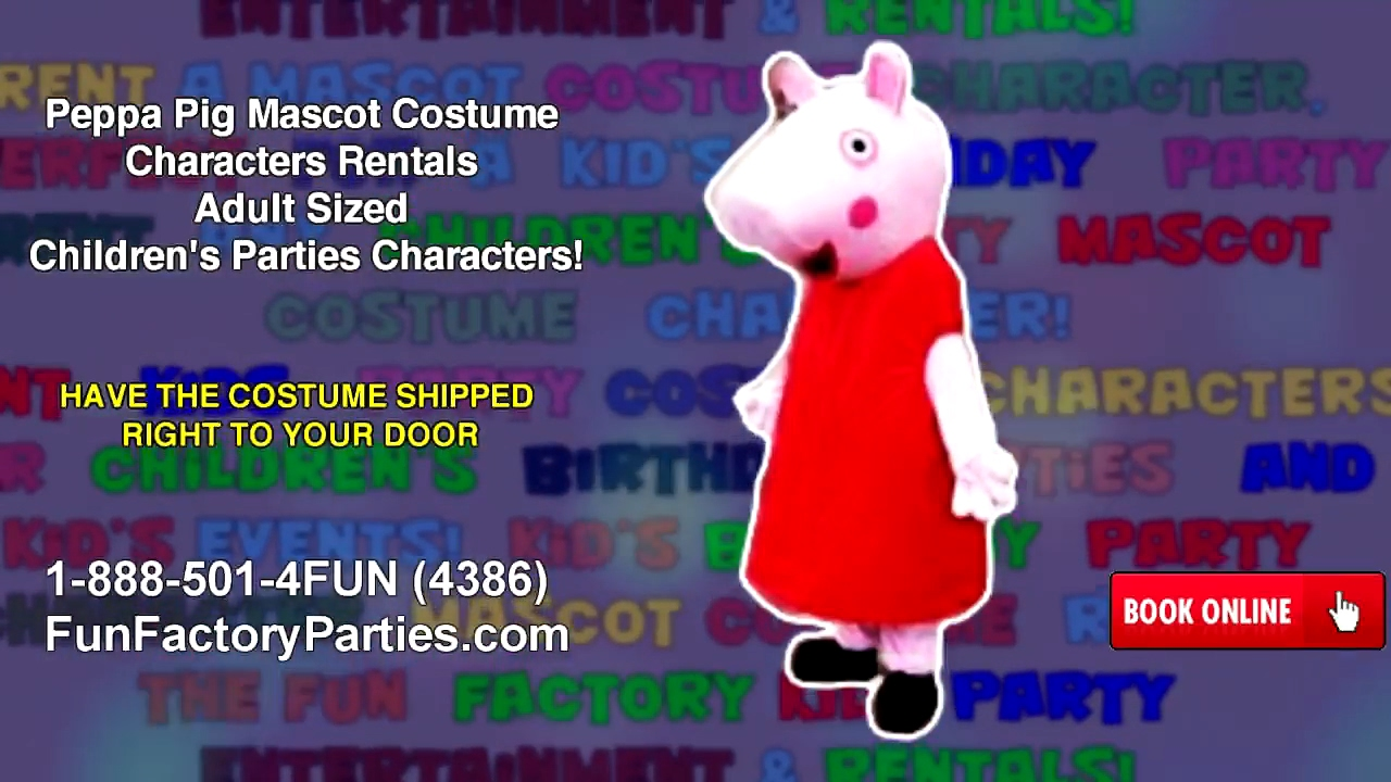 Bubble guppies character rental - Peppa Pig Mascot Costume Characters Rentals Adult Sized Children S Parties Characters