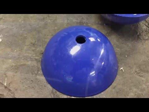 Формовка полусферы из листового металла