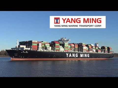 YM WELCOME | 368 metres Container Ship | Departure from Port of Hamburg