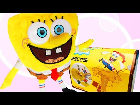 Spongebob Surprise Toys Unboxing Gold Treasure Secret Stone