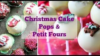 Christmas Fruit Cake Pops/ Petit Fours | Tastefully Vikkie