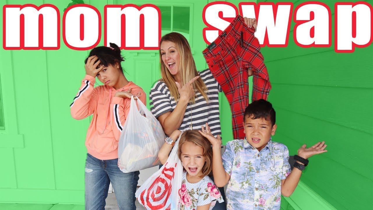 Mom Swap Back To school shopping for The Ohana Adventure's Kids! - YouTube