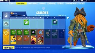 SEASON 5 BATTLE PASS THEME REVEALED! ALL SEASON 5 SKINS AND THEME FORTNITE SEASON 5 MAX BATTLE PASS!