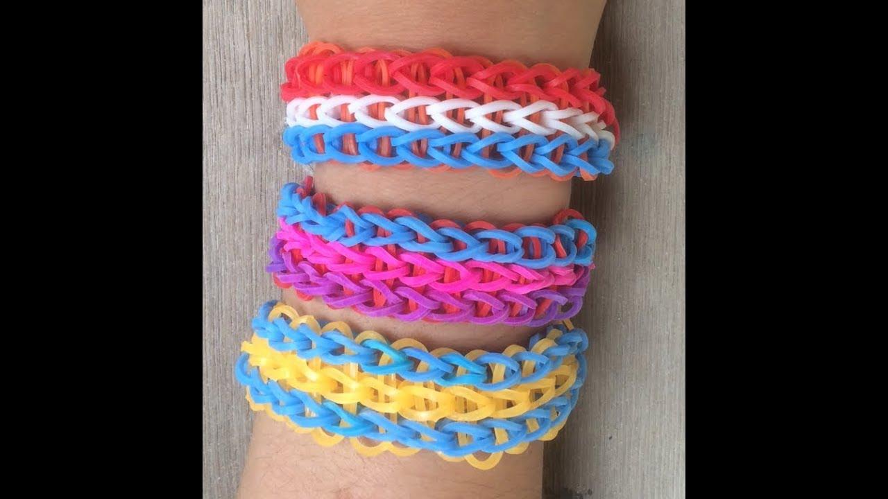 Dikke voetbal armbandjes maken van drie rijen voor vaderdag met loom bandjes op een loom bord - Een verwijderbare partitie maken ...