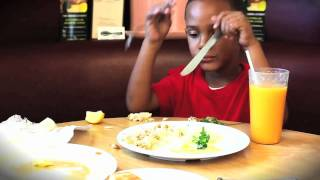 Greedy kid @ The Serving Spoon - Inglewood, California