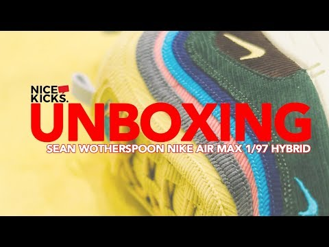 UNBOXING SEAN WOTHERSPOON NIKE AIR MAX 1 97 HYBRID #AIRMAXDAY RELEASE