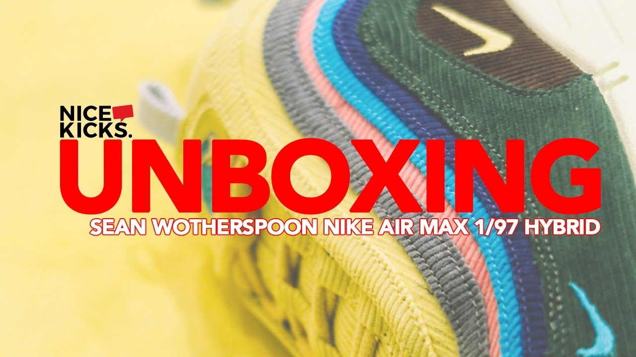 the latest 99736 6afeb UNBOXING SEAN WOTHERSPOON NIKE AIR MAX 1 97 HYBRID  AIRMAXDAY RELEASE