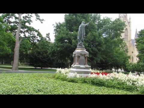 Visiting Notre Dame University