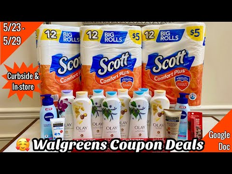 WALGREENS COUPON DEALS   In-Store + ALL Digital Online  Cheap Olay & Money Maker Revlon   5/23 – 29