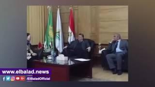 رئيس جامعة بنها يستقبل عميدة الدراسات العربية بالصين..فيديو وصور