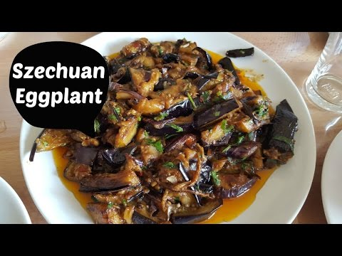 Szechuan Braised Eggplant Aubergine Recipe Spicy Sichuan with Nancy Vegan/Vegetarian (Polly Tran)