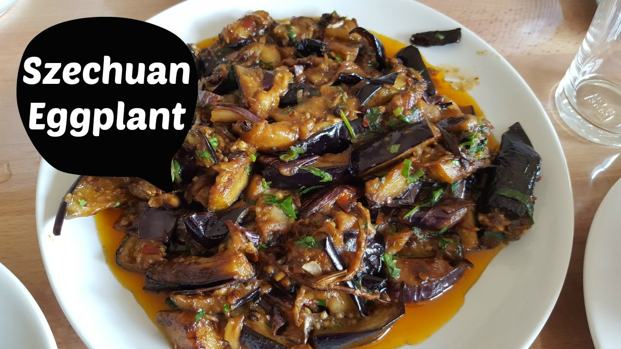 aubergine vegan recept