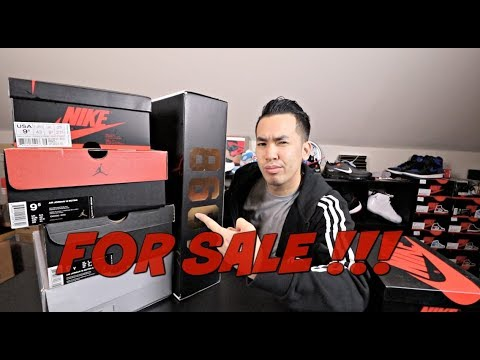 SELLING MY SNEAKER COLLECTION !!! FOR SALE VID