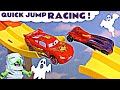 Cars McQueen Spooky Halloween Knockout Racing with Hot Wheels Superhero Cars for kids TT4U