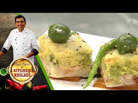 Sanjeev Kapoor Ke Kitchen Khiladi - Ep 10 - Tiranga Dhokla And Oondhiyo