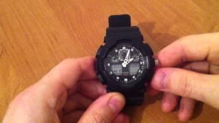 Налаштування копії годинників Casio G-Shock GA-100.