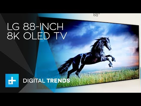 LG 88-Inch 8K OLED TV - Hands On at CES 2018