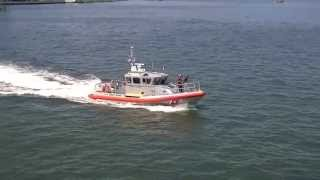 Being Followed by a US Coast Guard Patrol Boat in New York CIty