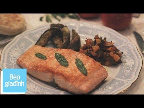 Cá hồi sốt cà chua – Yêu Bếp Gia Đình | Bếp Gia Đình