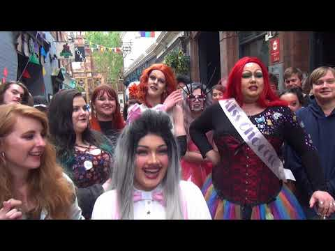 Gay Pride Exeter 12 May 2018 Part 5. Festival Music At the Phoenix. Drag Queens