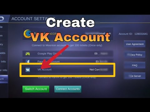 How To Create VK Account In Mobile Legends