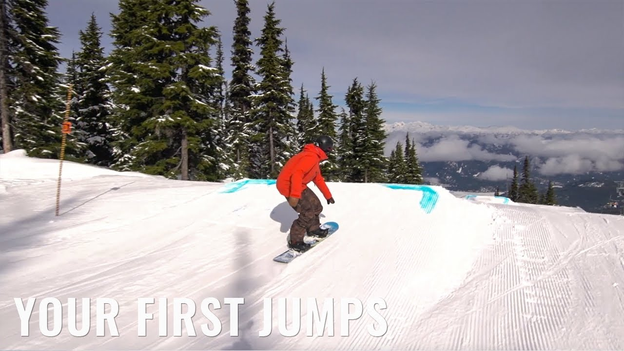 657ab04a4157 Your First Jump On A Snowboard - YouTube
