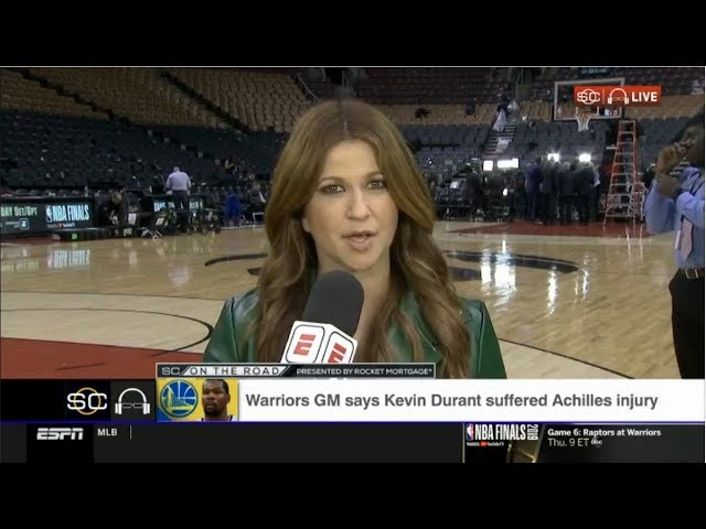 Rachel Nichols STUNNED by Warriors GM says Kevin Durant suffered Achilles injury | ESPN SC