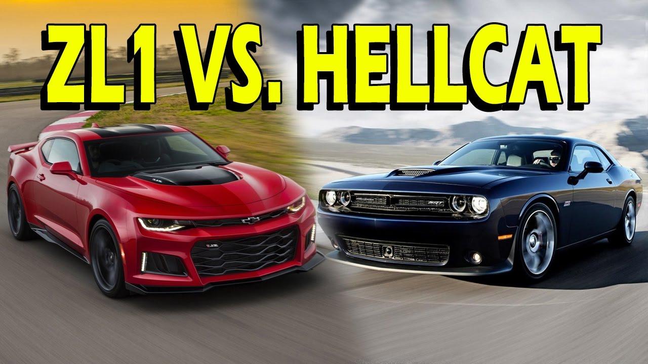 Camaro Zl1 Vs Challenger Hellcat 2017 Vlog Youtube