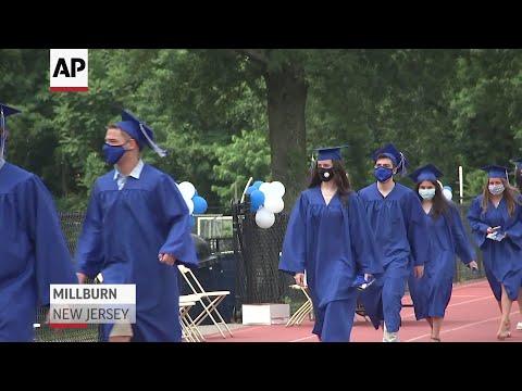 In-person school graduations resume in New Jersey
