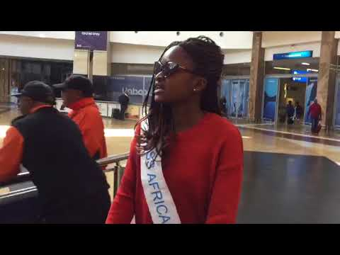 Miss Africa Liberia Arriving in SA #ContinentUnity