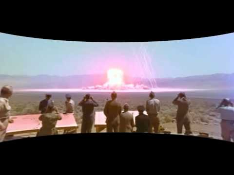 Atomic Bomb Test Shot MET in  curved screen CINEMASCOPE - 1955