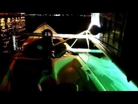 Ultimate Motor Double Kayak Night Cruising on the Bay