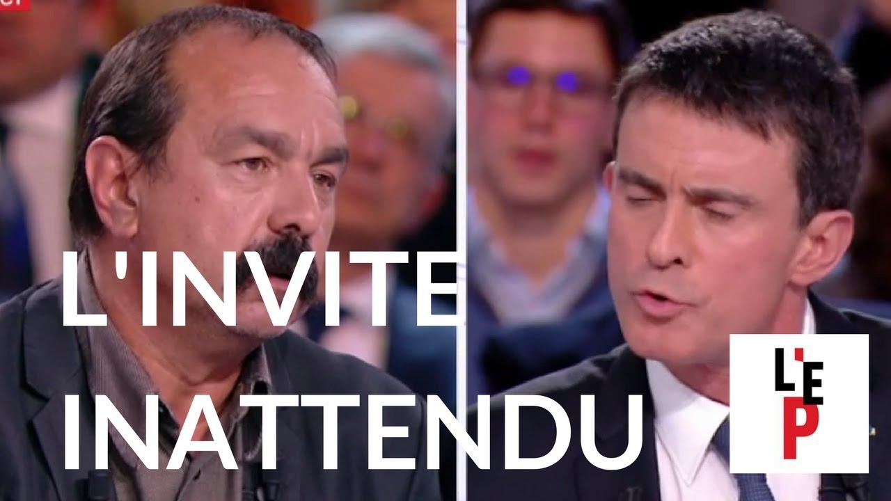 L'inattendu - Philippe Martinez - L'Emission politique avec Manuel Valls le 31/03/2017 (Fr