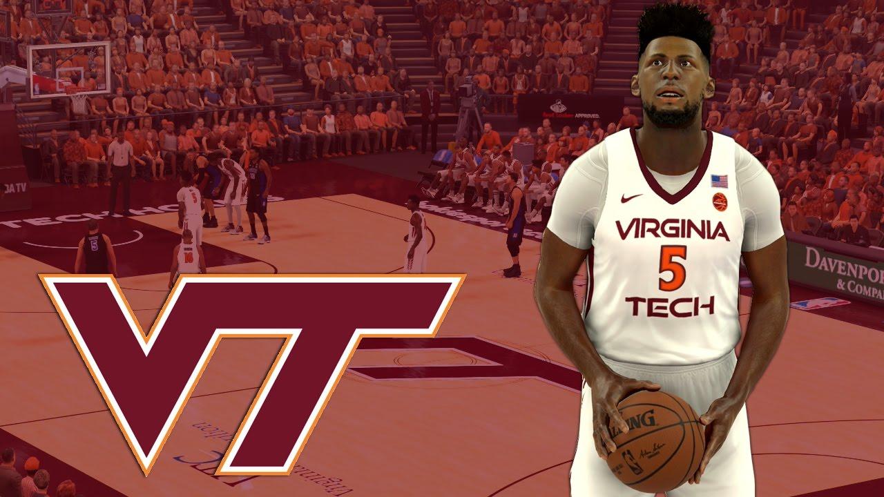 Nba 2k17 2016 17 Virginia Tech Hokies Jersey Court Tutorial Youtube