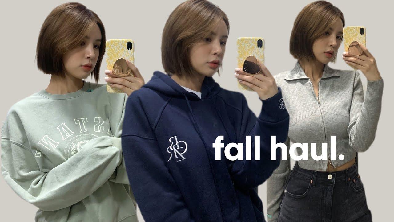 [ENG/JPN] 지금부터 입기 좋은 꾸안꾸 가을 패션하울🍂 | 니트집업,맨투맨,후드,니트 | 인스턴트펑크,시티브리즈,닉앤니콜 | fashion haul | 재유JEYU