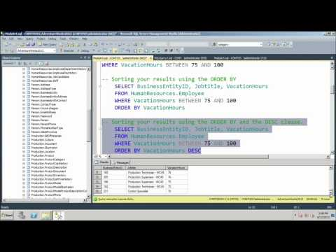 04 - Database Fundamentals -  Using DML Statements